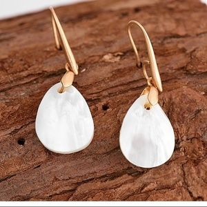 New - Sky Shell Drop Earrings